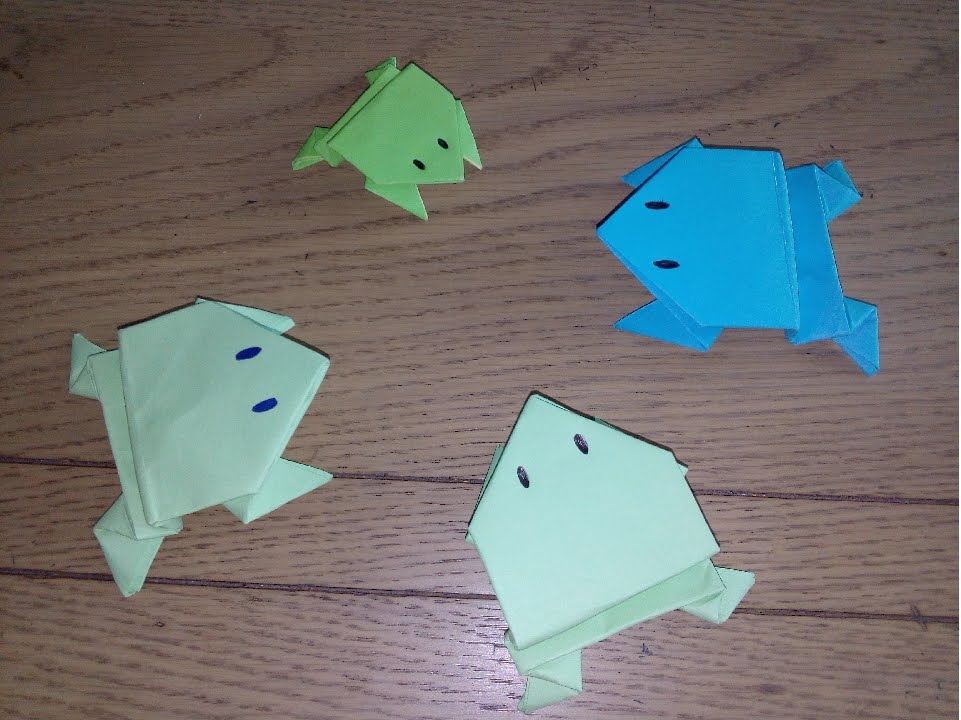 origami facile grenouille sauteuse youtube