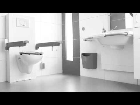 Miva Toilet Sta Op Toilet En Zorg Wastafel Aangepaste Badkamer Hulpmiddelen Bano Zorgbadkamers Youtube