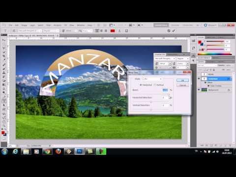 Sende Photoshop Öğren Ders 1 - Resme Yazı Eklemek Basit Efekt Vermek