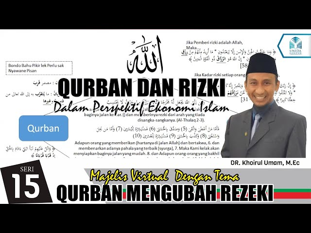 DR. Khoirul Umam, M.Ec - Qurban dan Rizki Dari Perspektif Ekonomi Islam   MVMG Ke-15