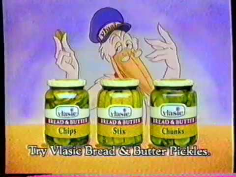 1986 Vlasic Bread and Butter Pickles TV Commercial