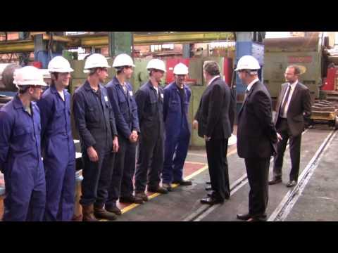 Prime Minister Gordon Brown visits Sheffield Forgemasters