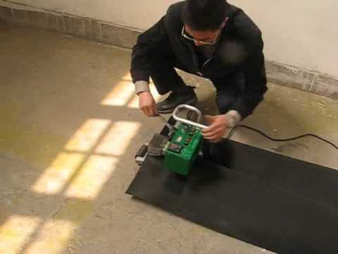 Hdpe Geomembrane Welder Welding Process Youtube