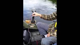 Test Argo 8x8 avec hors bord électrique 55 lbs