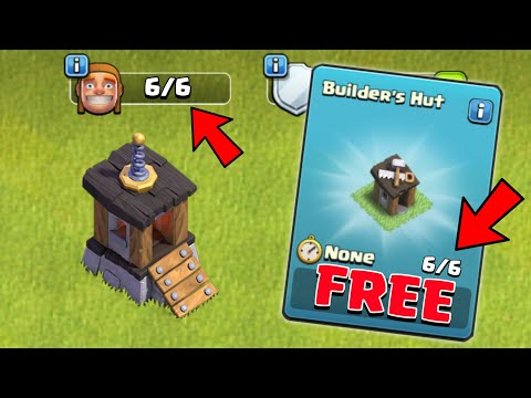 HOW TO GET 6th MASTER BUILDERS HUT FOR FREE | FREE BUILDERS HUT