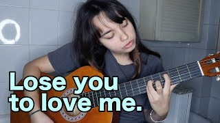 Lose you to love me - Selena Gomez (GUITAR AND VOICE, BATHROOM COVER) видео
