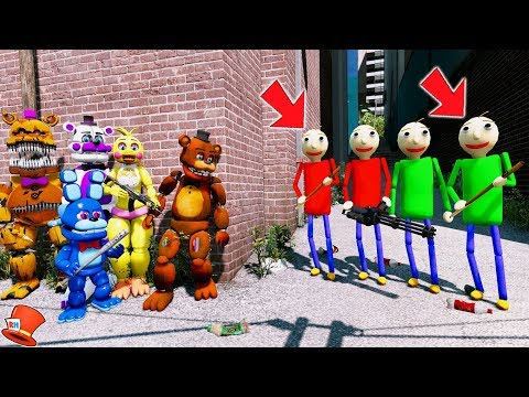 CAN THE ANIMTRONICS DEFEAT THE BALDI BROTHERS? (GTA 5 Mods FNAF Kids RedHatter) thumbnail