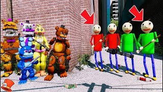 CAN THE ANIMTRONICS DEFEAT THE BALDI BROTHERS? (GTA 5 Mods FNAF Kids RedHatter)