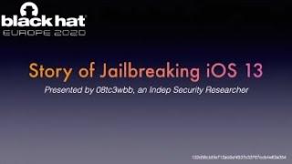 Story of Jailbreaking iOS 13
