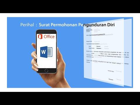 surat pengunduran diri atau Resign