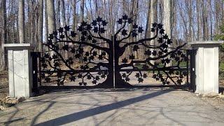 Красивые королевские ворота для дома и особняка лазерной резкой(, 2014-11-24T18:36:11.000Z)