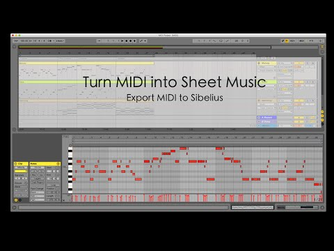 Turning MIDI into Sheet Music
