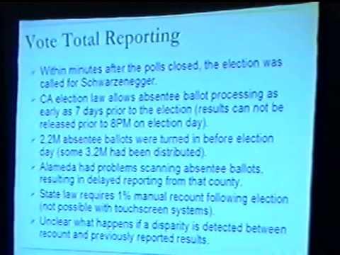 Black Hat USA 2004 - Managing Election Data: The California Recall