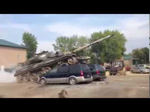 tank runs over two cars real life battlefield experience. Black Bedroom Furniture Sets. Home Design Ideas