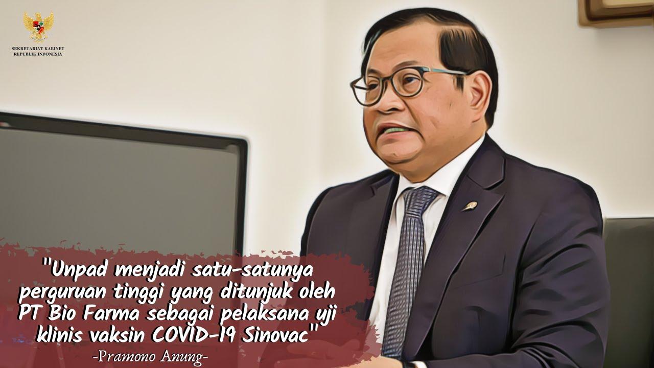 Orasi Ilmiah Sekretaris Kabinet (secara virtual)  pada acara  Dies Natalis Fikom Unpad ke-60