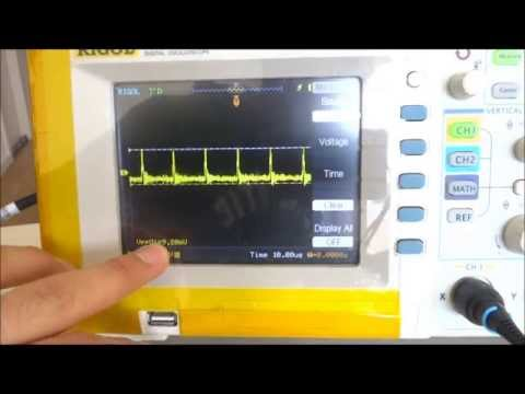 LM2596 Buck Converter Voltage Ripple On Oscilloscope Review Power Supply Module