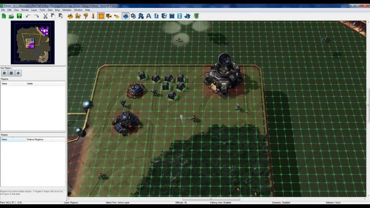 Starcraft 2 Map Editor - Auto training structures