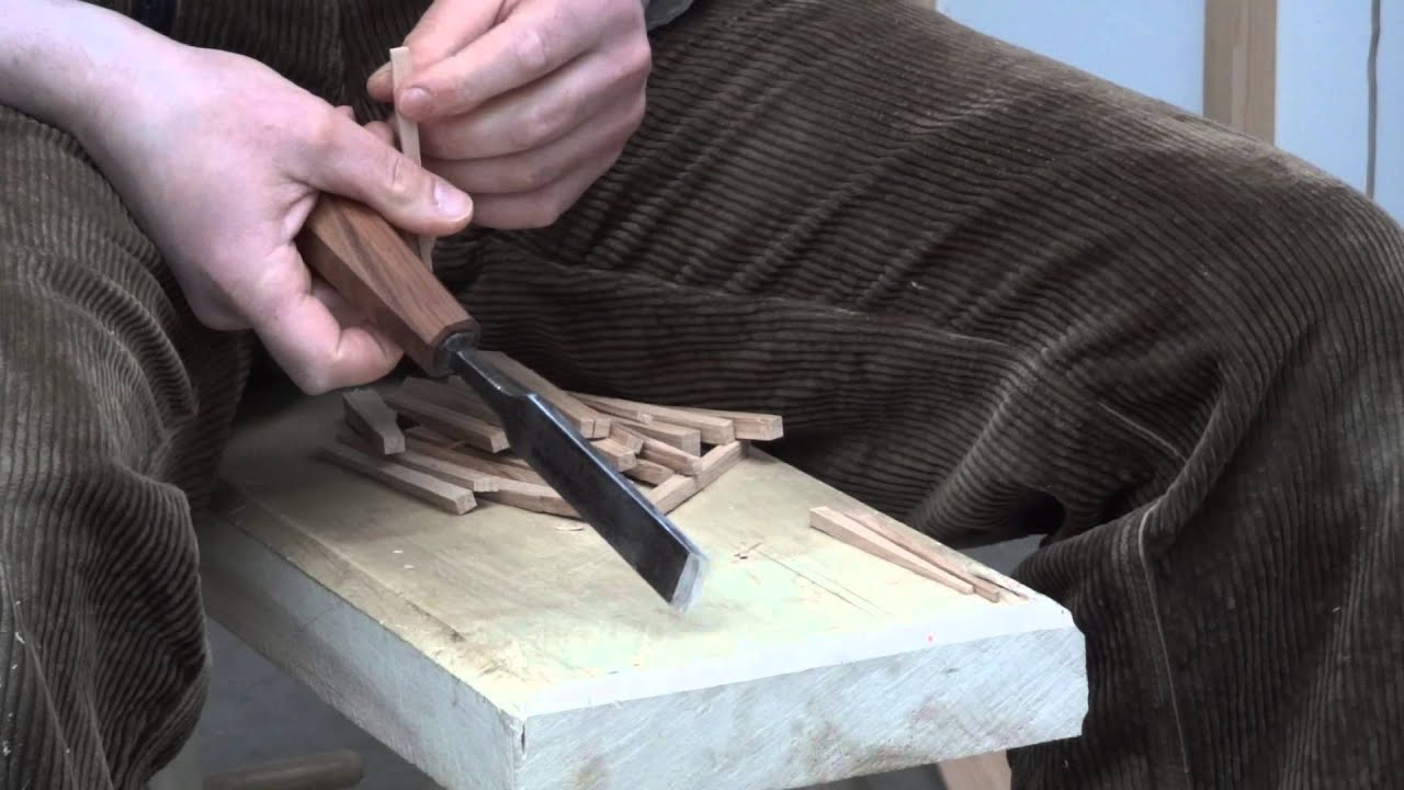 Toognagels Steken, Pins For Drawbored Mortise & Tenon Joints - YouTube