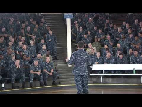 Chief of Naval Personnel briefs Sailors at Joint Base Pearl Harbor-Hickam
