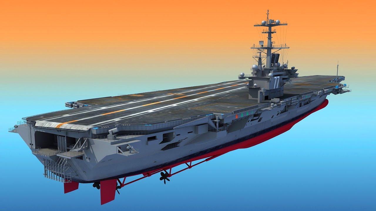 Uss George H W Bush Aircraftcarrier Cvn 77 3d Model Youtube