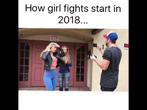 How girl fights start in 2018...