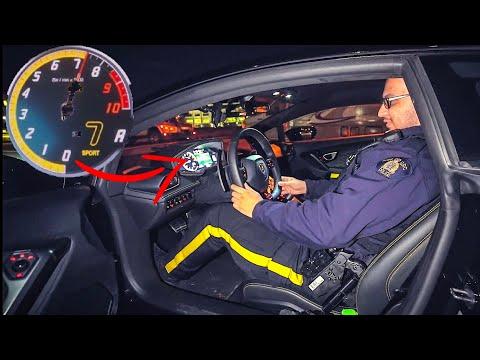 POLICE TAKE MY FRIENDS LAMBORGHINI UPTO REDLINE! *COOLEST COPS*