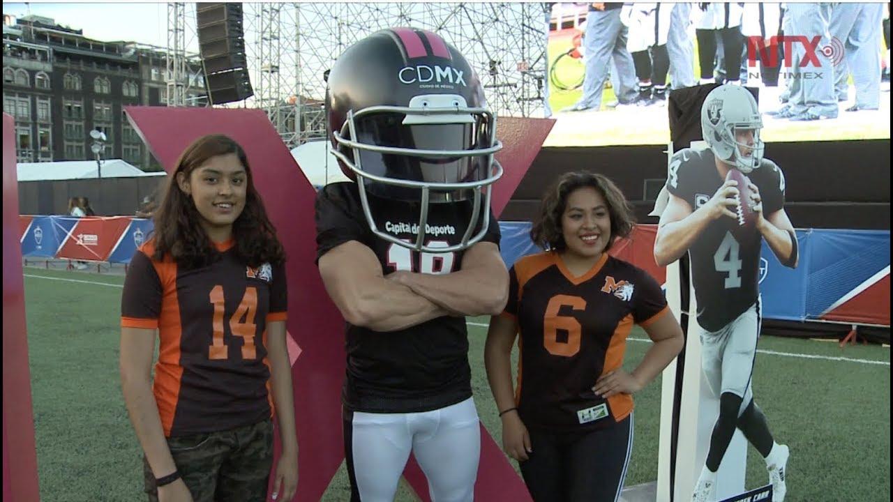 Inauguran NFL Fan Fest en el Zócalo en marco de Raiders-Pats - YouTube