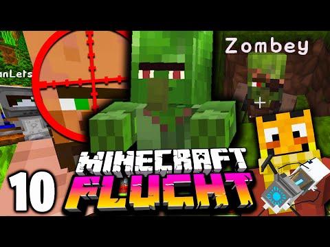 Der ZOMBEY Dorfbewohner & wir EROBERN DAS NEUE DORF! ☆ Minecraft FLUCHT #10