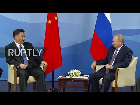 LIVE: Putin and Xi Jinping discuss bilateral trade at EFF 2018