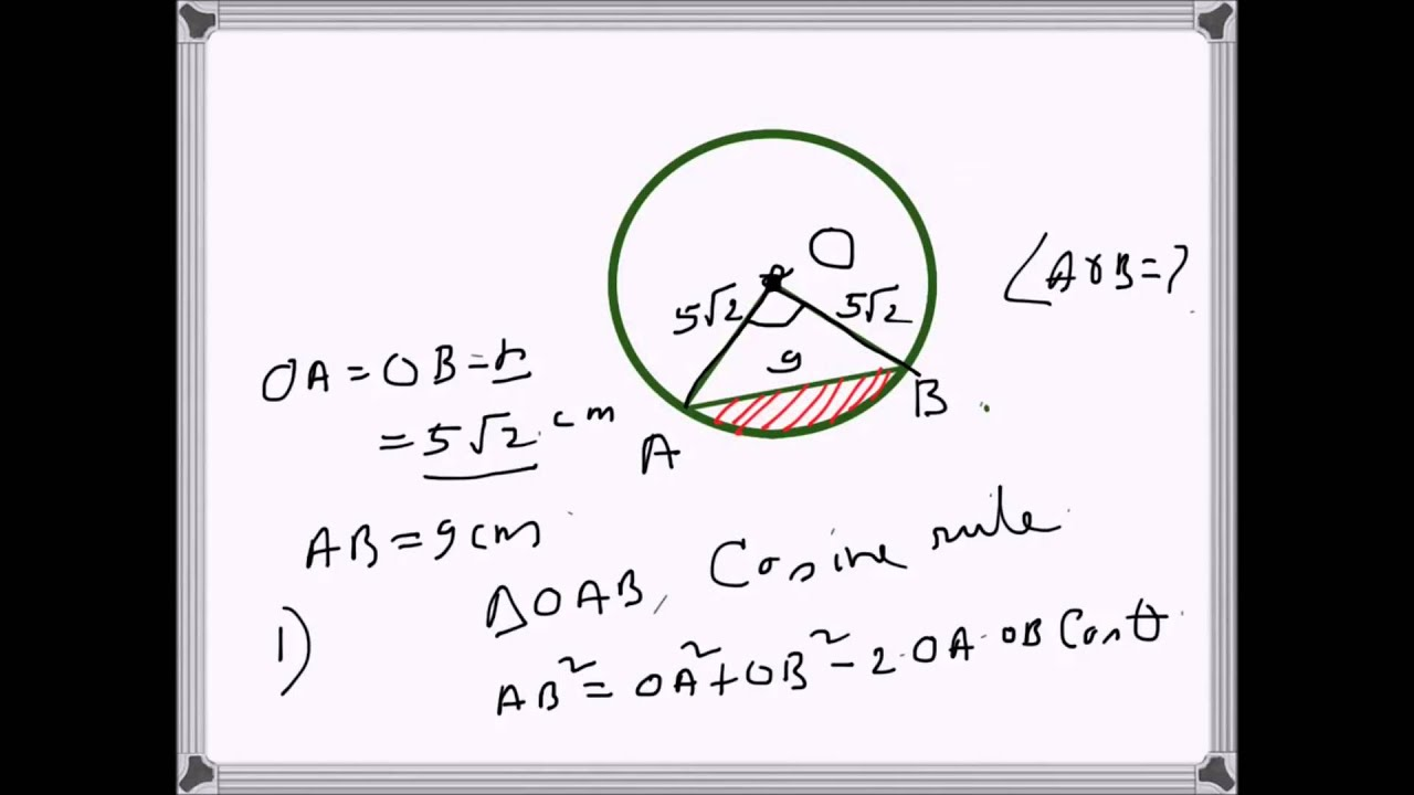 Geometry: Area Of Minor Segment In A Circle