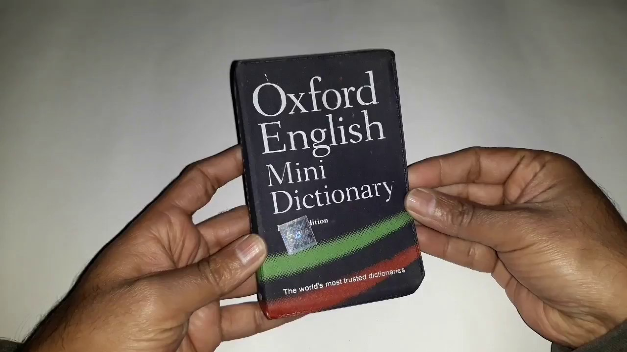 Dictionary Oxford English Mini Dictionary My Book Size Youtube