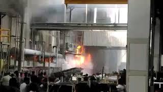 आयशर मोटर्स पीथमपुर में आग