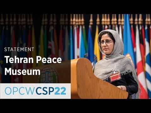 Tehran Peace Museum Statement by Ms Elaheh Pooyandeh at CSP-22