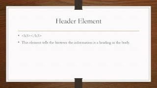 HTML Informative Presentation