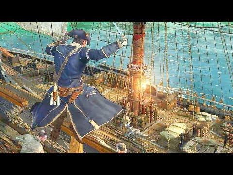 Assassin's Creed 3 Captain Assassin Connor Ship Battle, Brutal Tomahawk Kills & Sword Combat thumbnail