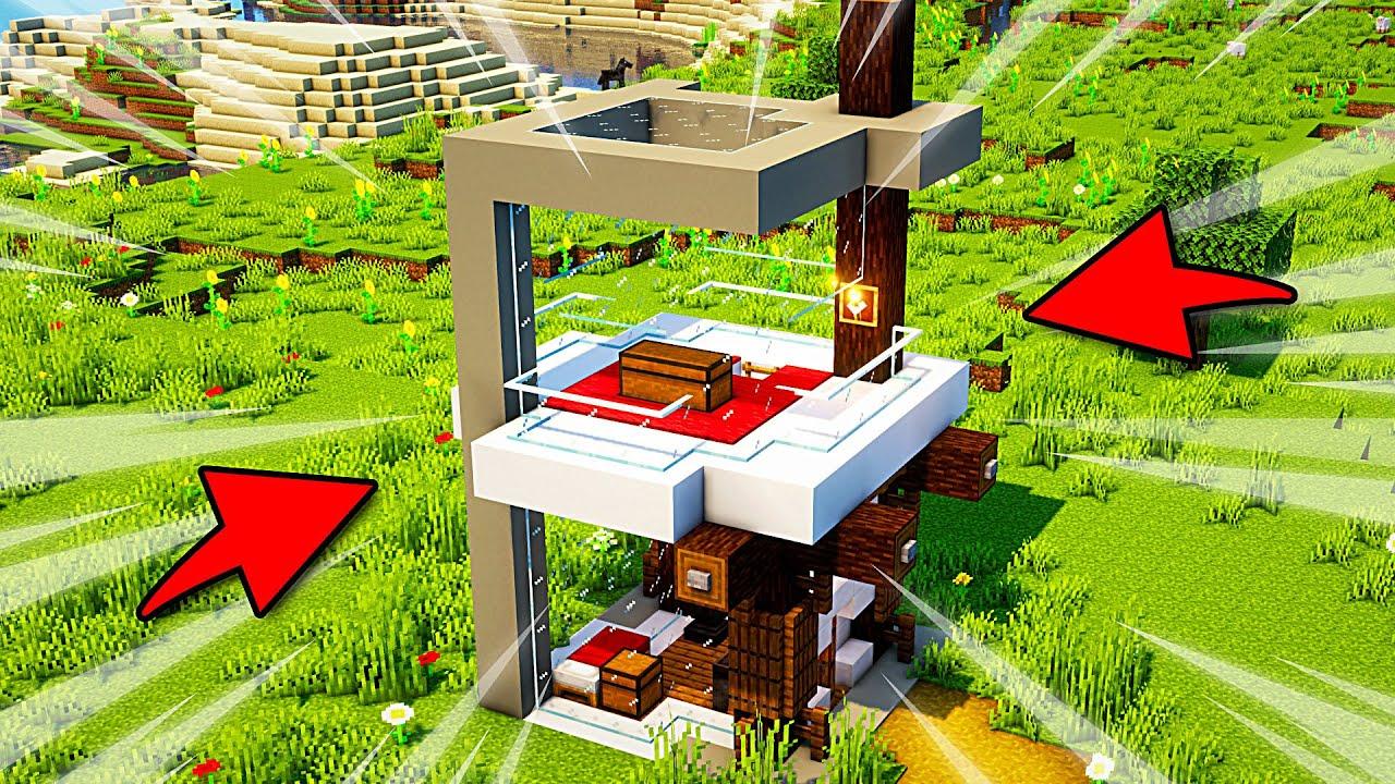 Simple Modern Minecraft House: Timelapse