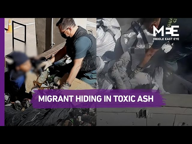 Spain: Video shows migrant hiding in toxic ash in bid to reach Europe