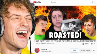 REACTING TO SLOGO'S 10,000,000 SUBSCRIBERS ROAST VIDEO!