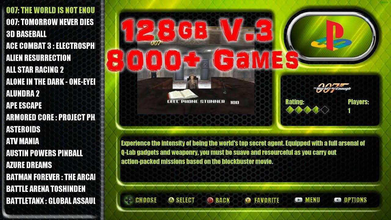 128GB V 3 New Raspberry Pi 3 Build - 8,000+ Games from VirtualMan