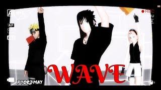 【MMD Naruto】Naruto, Sasuke and Sakura『WAVE』