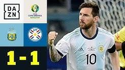 Lionel Messis Elfer rettet Albiceleste ein Remis: Argentinien - Paraguay 1:1   Copa America   DAZN