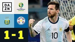 Lionel Messis Elfer rettet Albiceleste ein Remis: Argentinien - Paraguay 1:1 | Copa America | DAZN