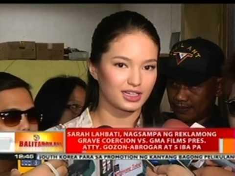 BT: Sarah Lahbati, nagsampa ng reklamong grave coercion vs Atty. Gozon-Abrogar at 5 iba pa