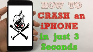 How to Crash an iPhone Instantly
