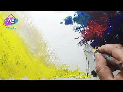 Abstract painting | Abstract landscape / Acrylics / Palette knife | Demonstration | Art explain