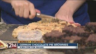 Sunday Brunch:  Natalie's German Chocolate Pie Brownies Part I