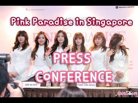 "[ApinktownSubs] Apink ""Pink Paradise in Singapore"" Press Conference"