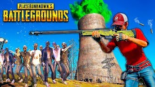 1% OF SURVIVAL!! 5 YOUTUBERS VS 100 ZOMBIES IN A VERY SMALL AREA - RUN OF THE VIRUS IN PUBG