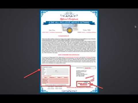 how to get free vacation vouchers free vacation certificates youtube