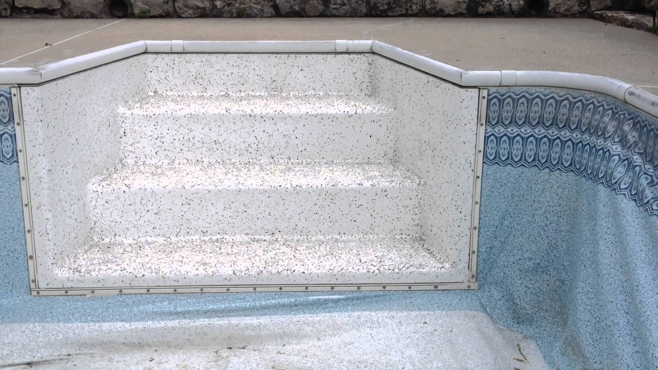 ProTex Coatings In Ground Fiberglass Pool Steps Repair U0026 Rejuvenation.  Underwater Rated   YouTube